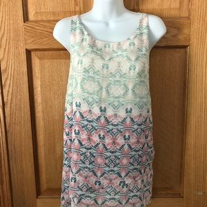 CAbi Sleeveless 2 Tier Blouse Tank Size L